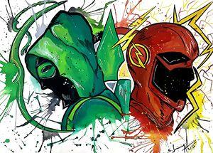 The Flash vs Green Arrow - Aartliner