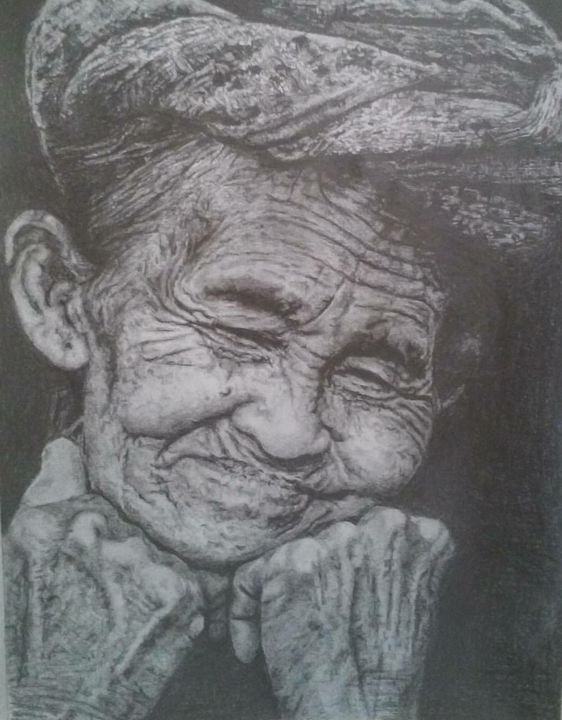 Smiling Granny - Anni's Art