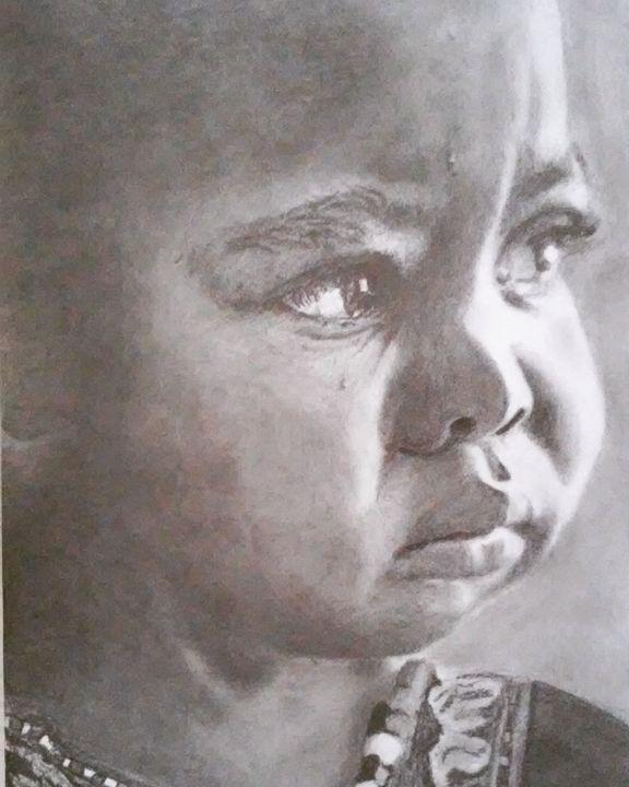 Sad little girl - Anni's Art
