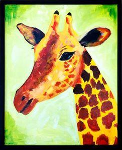 Abstract Giraffe Art