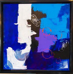 Abstract Framed Original Art