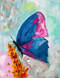 Abstract butterfly art