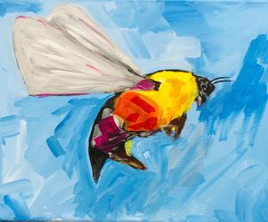 Abstract Bee art