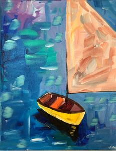 Abstract Boat Art