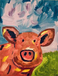 Abstract Pig Painting