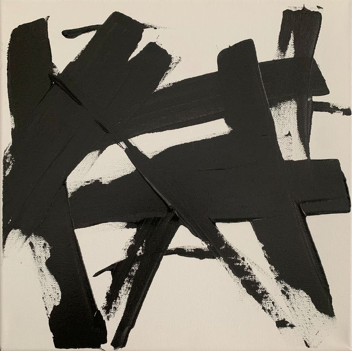 Black knife abstract - James boileau
