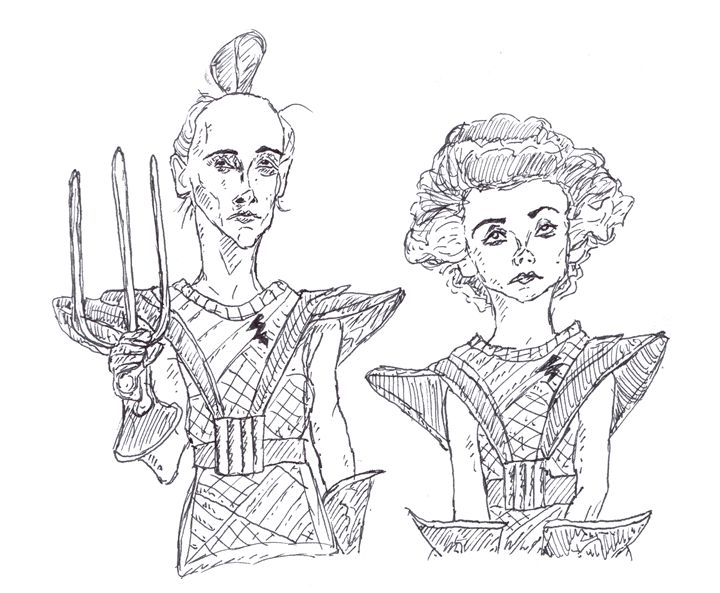 Riff Raff and Magenta - Sketches by Spencer
