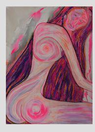 Lady in Pink - Art by Nazarine