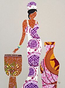 African Fabric Collage 2