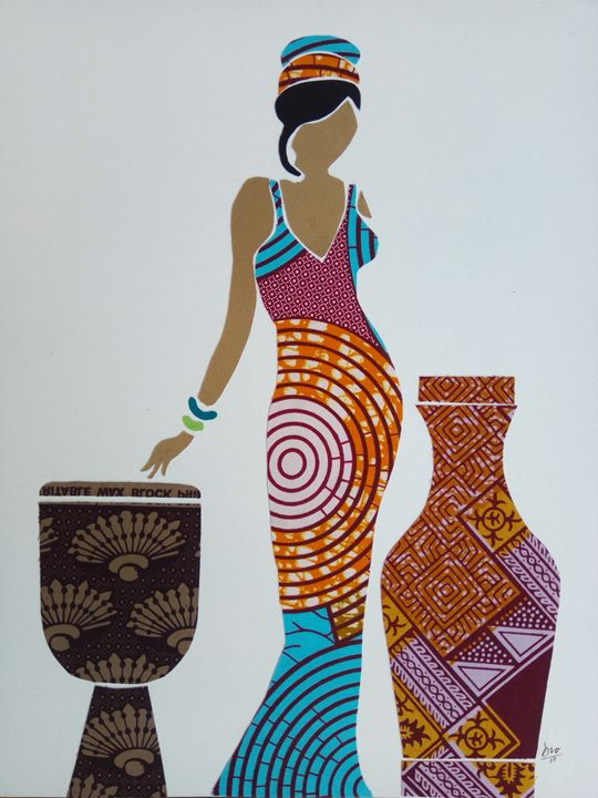 African Fabric Collage 3 - Art Of Dio