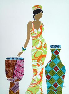 African Fabric Collage 4