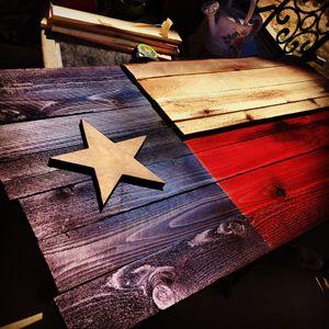 Texas Flag Wooden
