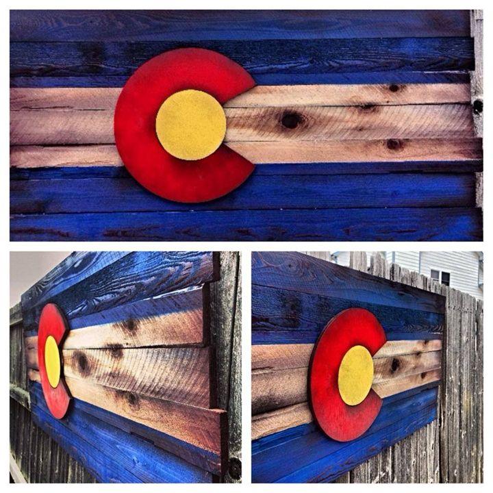 Wood Colorado Flag - Bowers Splinter Works