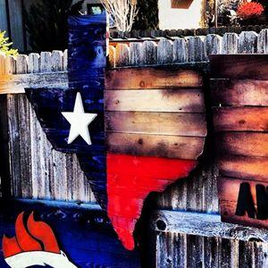 Texas Flag (Texas Shape)