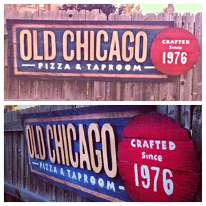 Old Chicago Wooden Sign