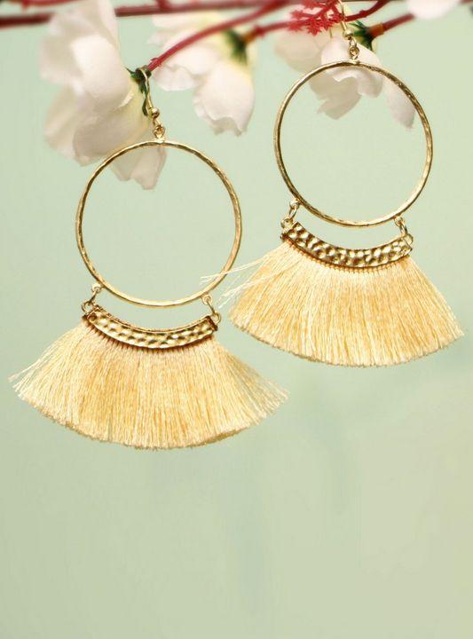 Handmade Artificial Earrings Gardeni - Wowtrendy