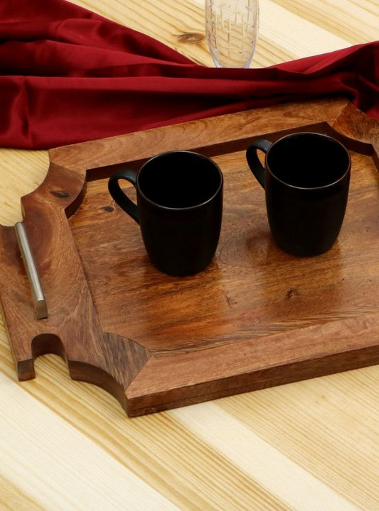 Wooden Tray Sierra Color - Wowtrendy