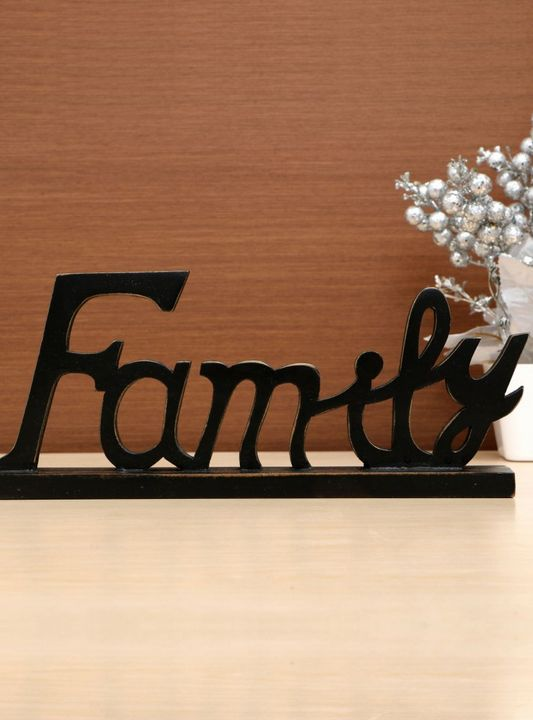 Wooden Family Letter Black Coffee - Wowtrendy