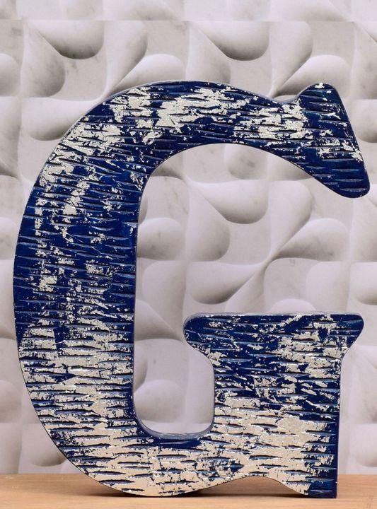 Wooden Alphabet Letter Ecru - Wowtrendy