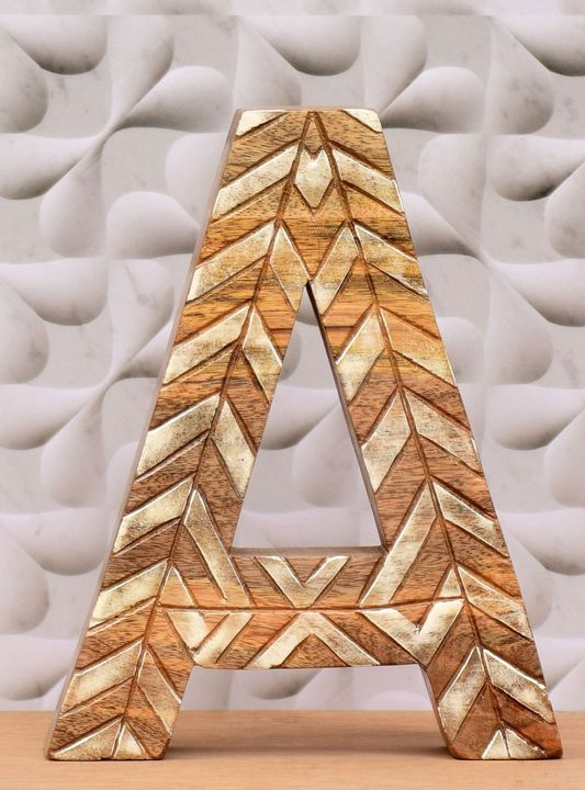 Wooden Alphabet Letter Imperial Blue - Wowtrendy
