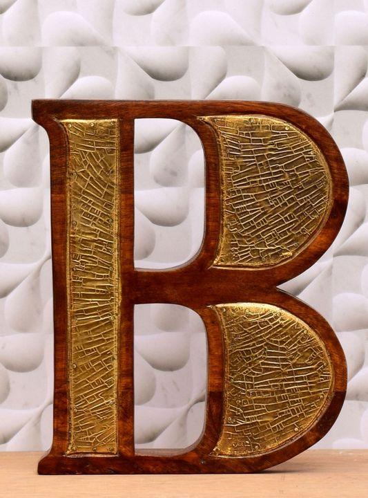 Wooden Alphabet Letter Golden - Wowtrendy