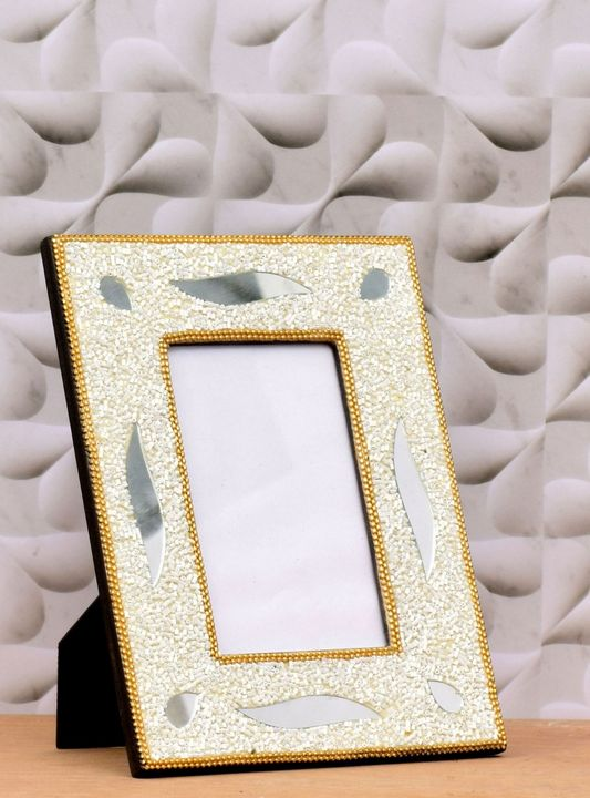 Photo Frame Golden And Marshmallow - Wowtrendy