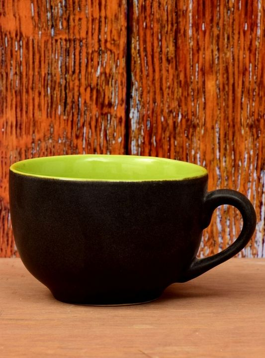 Ceramic Bowl Black And Chartreuse Co - Wowtrendy