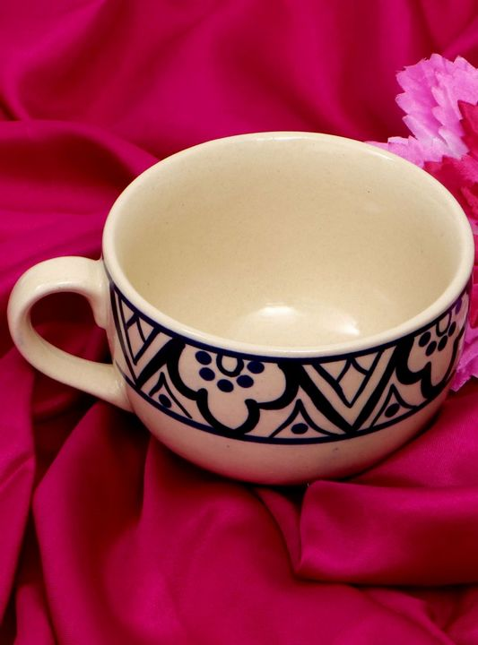 Ceramic Bowl Twilight Blue And Mocca - Wowtrendy