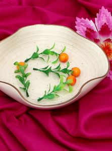 Ceramic Bowl Antique White Color