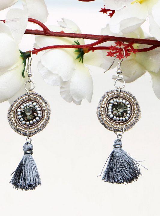 Handmade Artificial Earrings Frost - Wowtrendy