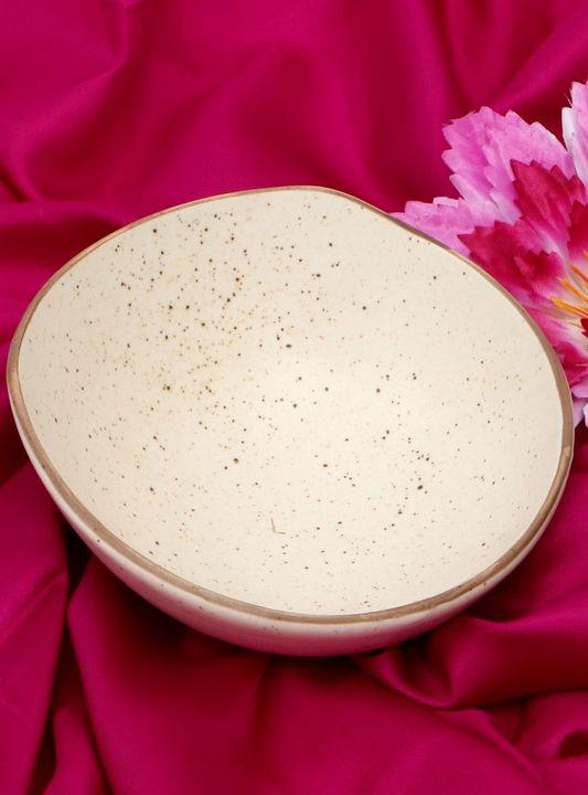 Ceramic Bowl Parchment Color - Wowtrendy