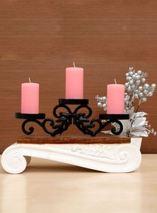 Wood And Metal Candle Stand