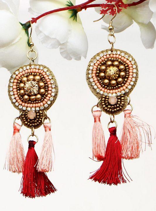 Handmade Artificial Earrings Tango - Wowtrendy