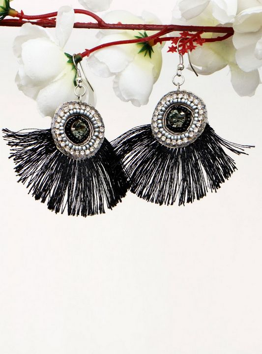 Handmade Artificial Earrings Anthrac - Wowtrendy