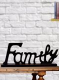 Wooden Family Letter Black Coffee