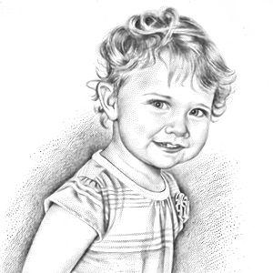 stipple portrait of Jill Greenberg