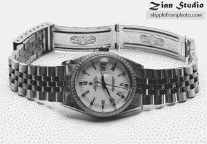 Stipple illustration of watch