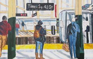 Times Square Subway Platform