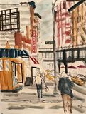 watercolor of Chelsea, NY