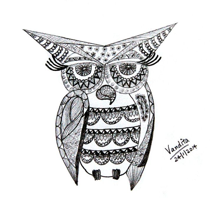 Abstract geometric owl - OrionArt