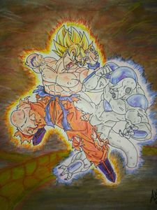 goku and Freeza battle Dragonball Z