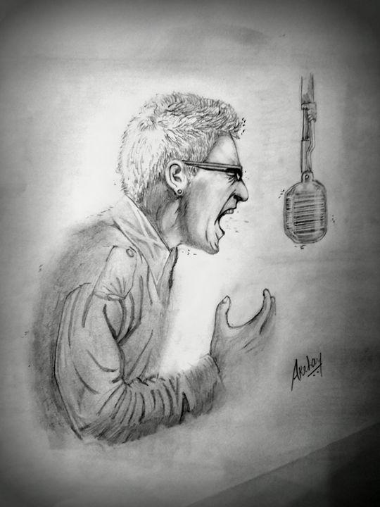 Chester Bennington - Linkin Park Art - Akshay Jadhav