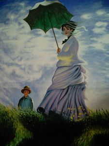 """""""Woman with Parasol"""" by Claude Monet"""