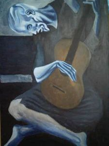 """Picasso's """"Old Man with Guitar"""""""