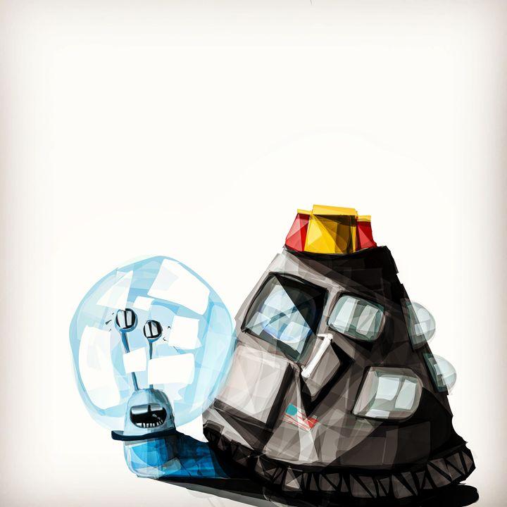 A space snail!!! - Aaron leonard gall