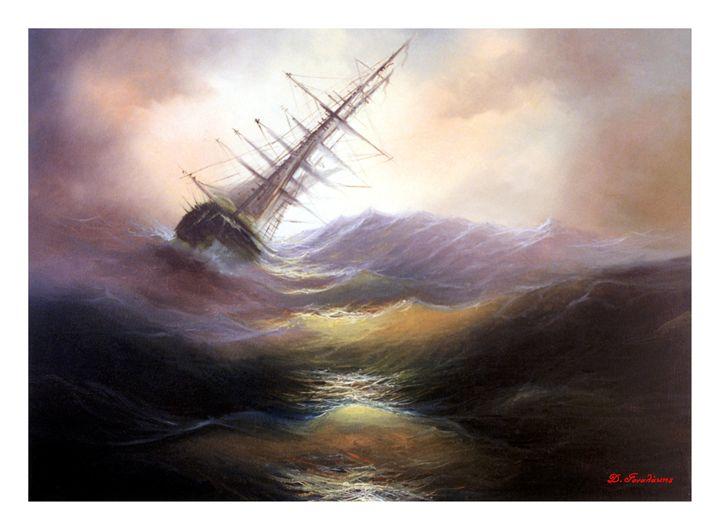 Stormy Sea - Gonalakis Art