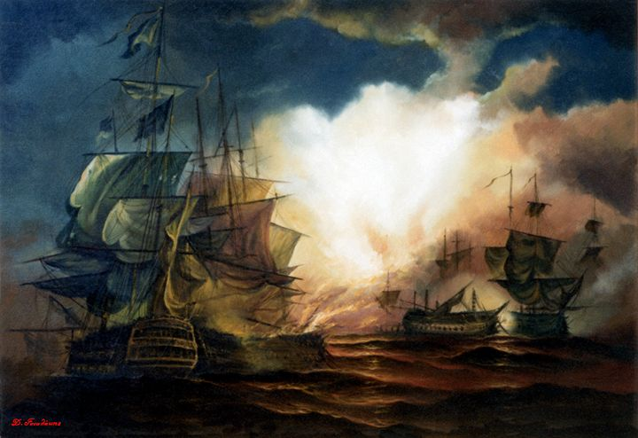 Navy Battle - Gonalakis Art