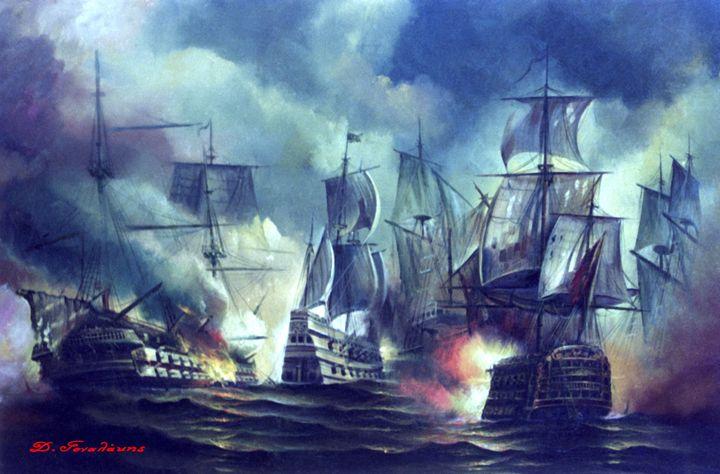 Navy Battle - Gonalakis Art