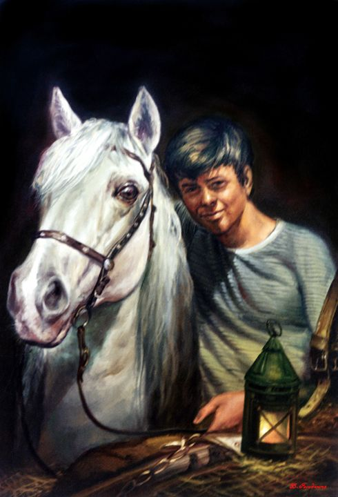 The Boy And The Horse - Gonalakis Art