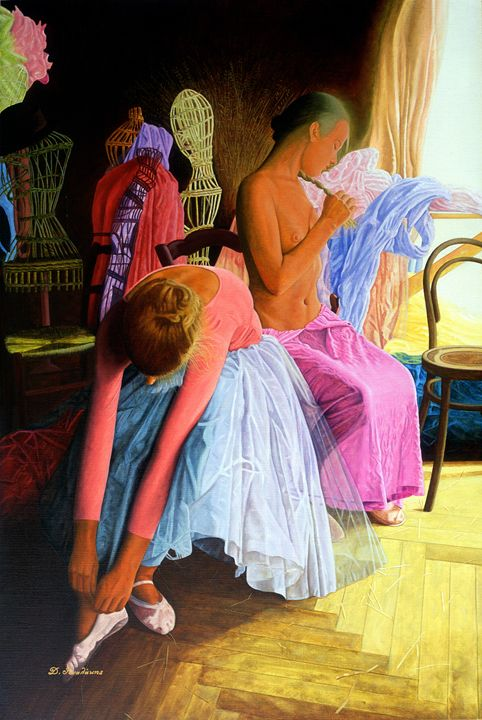 ballerinas dancers - Gonalakis Art